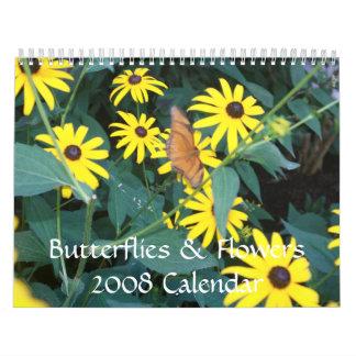 Calendario de las mariposas y de las flores 2008