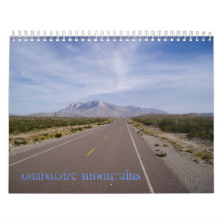 Calendario de las montañas de Guadalupe