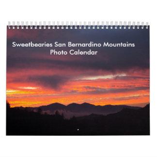 Calendario de las montañas de Sweetbearies San