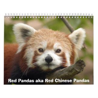 Calendario de las pandas rojas