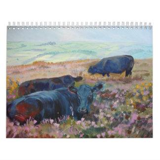Calendario de las pinturas 2012 de las ovejas y de