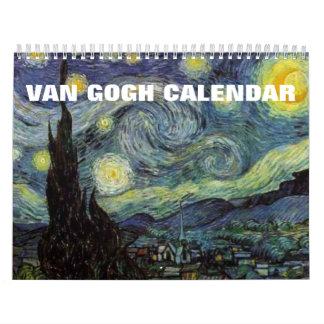 Calendario de las pinturas 2017 de Van Gogh