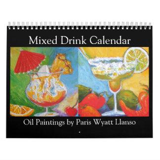 Calendario de las pinturas de la bebida mezclada