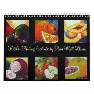 Calendario de las pinturas de la cocina de París