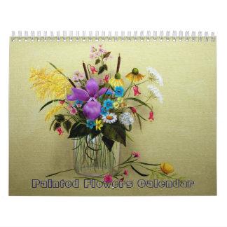 Calendario de las pinturas de la flor