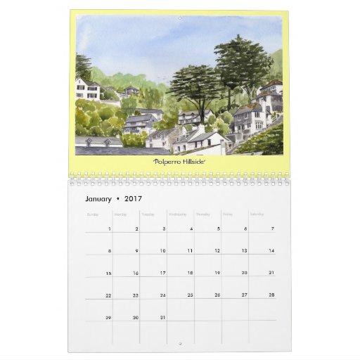 """""""Calendario de las pinturas de Polperro"""" Calendarios"""