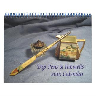 Calendario de las plumas y de los Inkwells 2010 de
