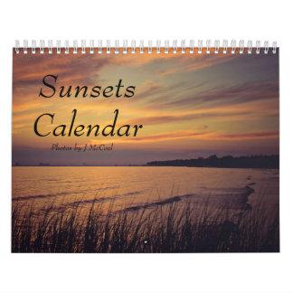 Calendario de las puestas del sol