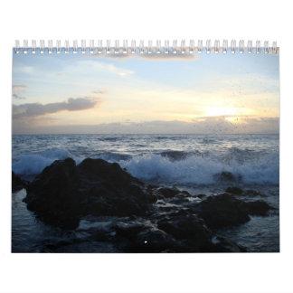 Calendario de las puestas del sol 2009 del océano