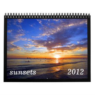 calendario de las puestas del sol 2012