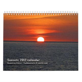 Calendario de las puestas del sol 2012 de Demetrio