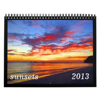 calendario de las puestas del sol 2013