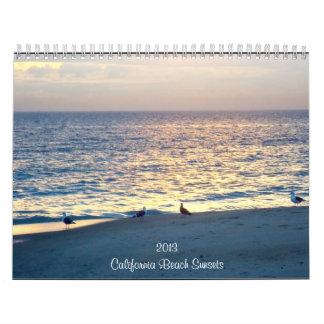 Calendario de las puestas del sol 2013 de la playa