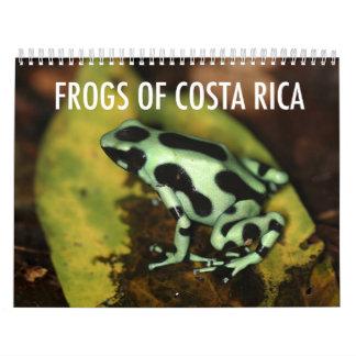 Calendario de las ranas de Costa Rica