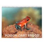 Calendario de las ranas del dardo del veneno