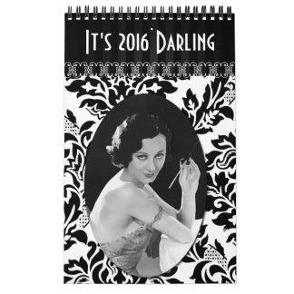 Calendario de las señoras del vintage