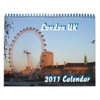 Calendario de Londres Reino Unido 2011