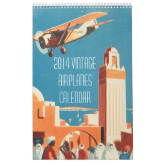 Calendario de los aeroplanos del vintage 2014