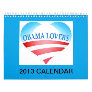 Calendario de los amantes 2013 de Obama