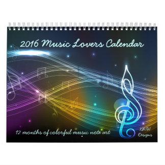 Calendario de los amantes de la música del KRW