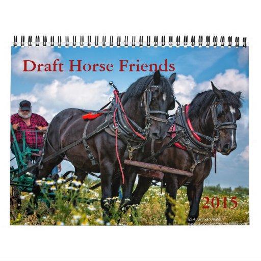 Calendario de los amigos del caballo de proyecto
