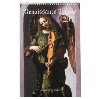 Calendario de los ángeles 2011 del renacimiento