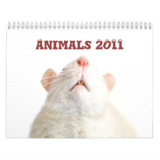 Calendario de los animales 2011
