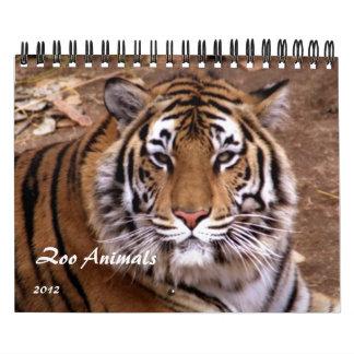 Calendario de los animales 2012 del parque zoológi