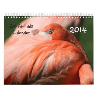 Calendario de los animales 2014 del parque zoológi