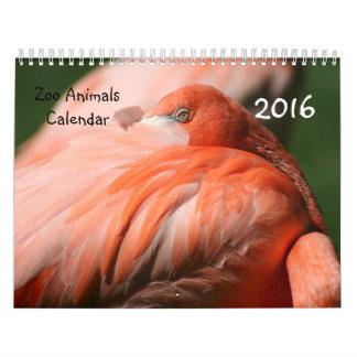 Calendario de los animales 2016 del parque