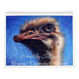 Calendario de los animales de la acuarela