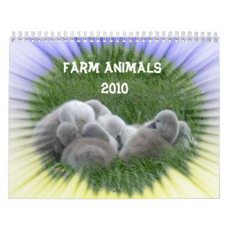 Calendario de los animales del campo 2010