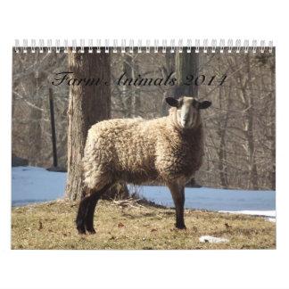 Calendario de los animales del campo 2014