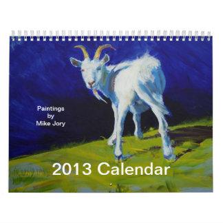 Calendario de los animales del campo del Fox del c