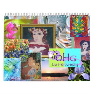 Calendario de los artistas del ms para la