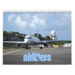 Calendario de los aviones de pasajeros