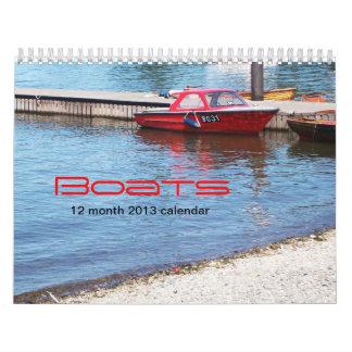 Calendario de los barcos