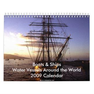Calendario de los barcos y de las naves 2009