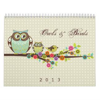 Calendario de los búhos y de los pájaros