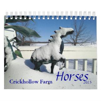 Calendario de los caballos de granja de