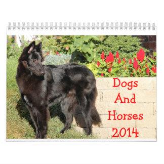 Calendario de los caballos y de los perros 2014