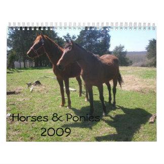 Calendario de los caballos y de los potros