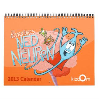 Calendario de los cerebros, de las neuronas y de