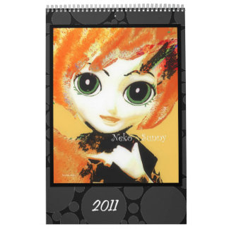 Calendario de los chicas, colorido y de la