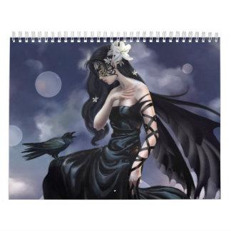 Calendario de los chicas de la fantasía