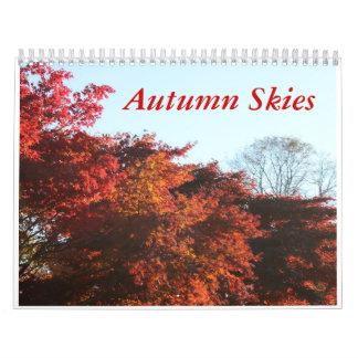 Calendario de los cielos del otoño