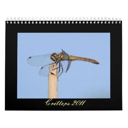 Calendario de los Critters 2011 - libélulas y más