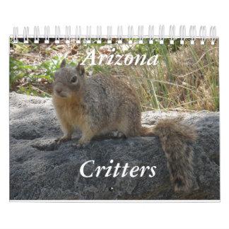 Calendario de los Critters de Arizona