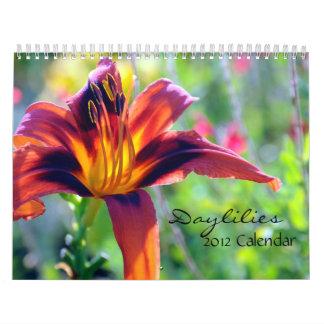 Calendario de los Daylilies 2012