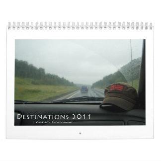 Calendario de los destinos 2011